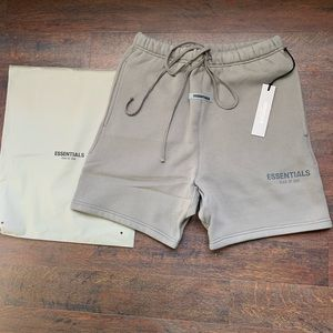 NWT Fear of God Essentials Cement Sweat Shorts